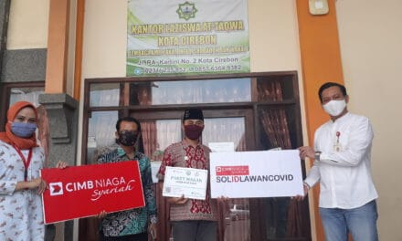 Bantu Warga Terdampak Covid-19, CIMB Niaga Syariah Salurkan Bantuan Melalui LAZISWA At-taqwa