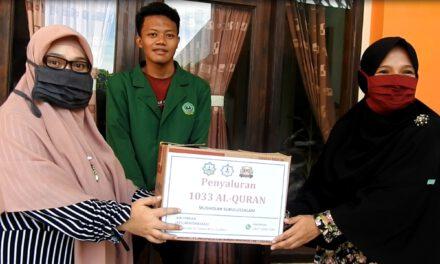 LAZISWA Salurkan 1.033 buah alquran dari KMO Indonesia Cirebon