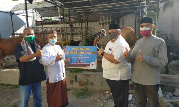 Salurkan Dua Ribuan Bungkus Daging, At-taqwa Gelar Qurban Dengan Prokes